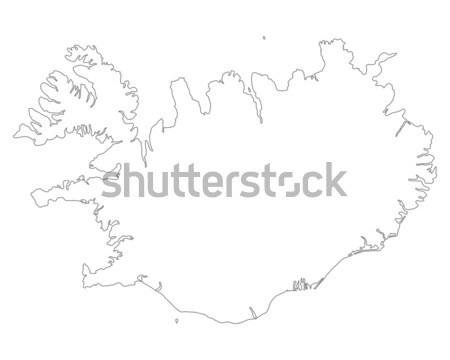 Map of Iceland Stock photo © rbiedermann