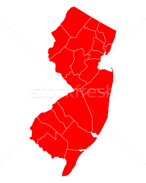 Map of New Jersey Stock photo © rbiedermann