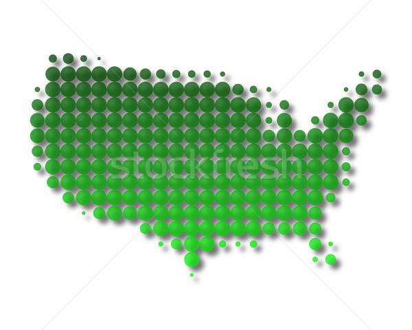 Térkép Egyesült Államok Amerika világ utazás minta Stock fotó © rbiedermann
