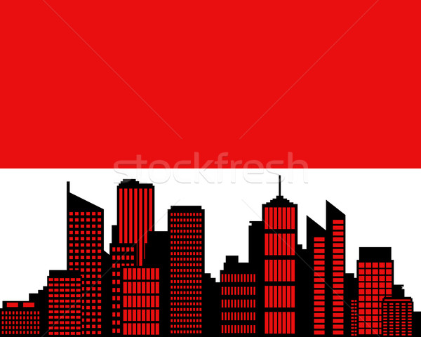 City and flag of Hesse Stock photo © rbiedermann