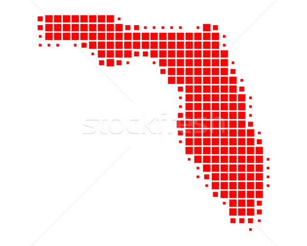 Сток-фото: карта · Флорида · красный · шаблон · Америки · США