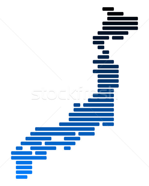 Map of Japan Stock photo © rbiedermann
