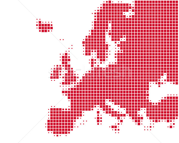 Map of Europe Stock photo © rbiedermann