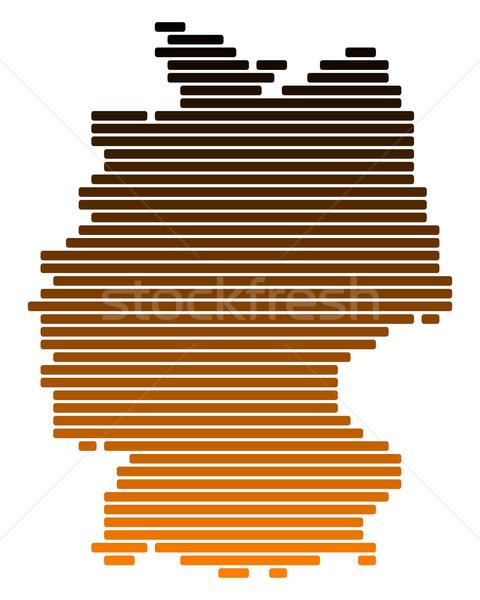 Foto stock: Mapa · Alemania · línea · líneas · punto · vector