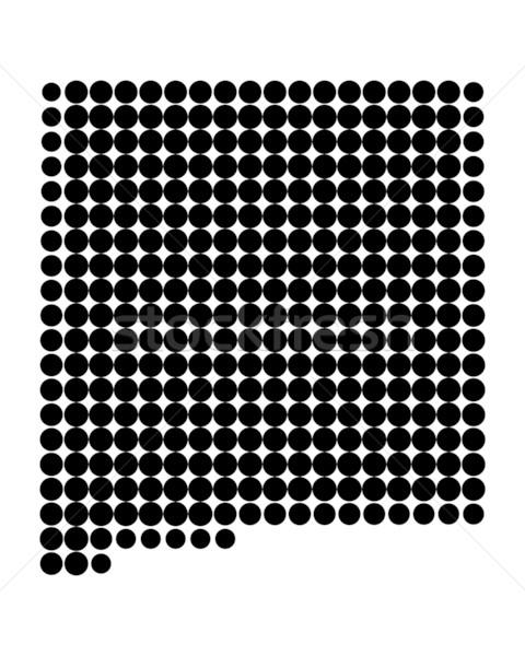 Kaart New Mexico zwarte patroon amerika cirkel Stockfoto © rbiedermann