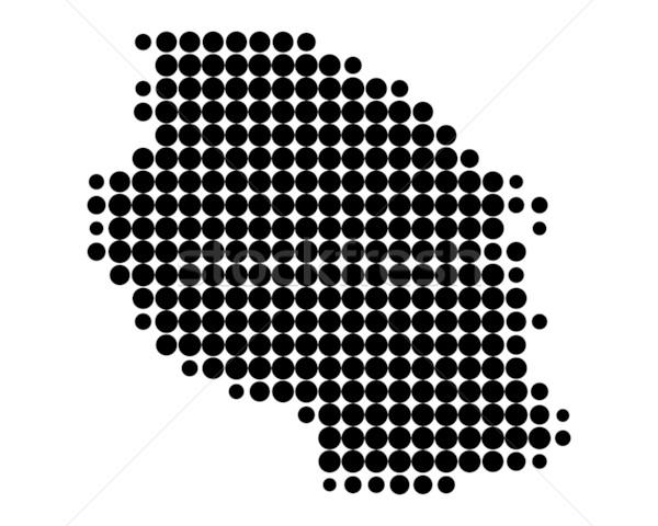 Karte Tansania Muster Kreis Punkt Stock foto © rbiedermann