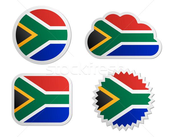 Sudáfrica bandera papel diseno signo Foto stock © rbiedermann