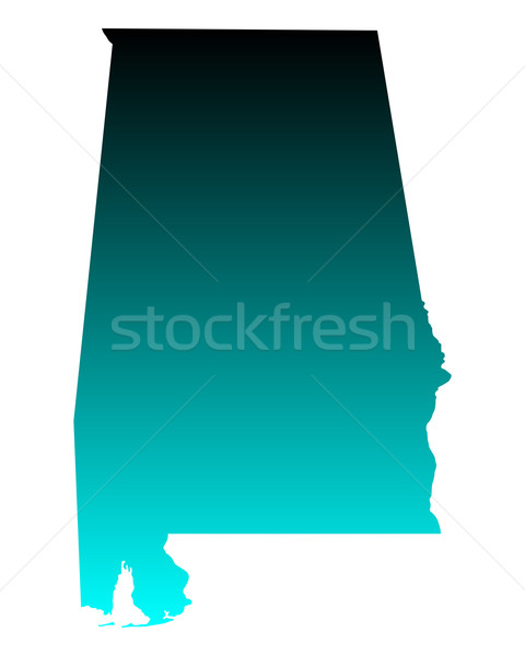 карта Алабама зеленый синий путешествия Америки Сток-фото © rbiedermann