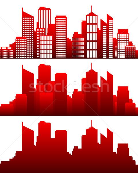 Escritório casa cidade projeto edifícios Foto stock © rbiedermann