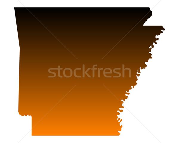 Mapa Arkansas viaje América EUA aislado Foto stock © rbiedermann