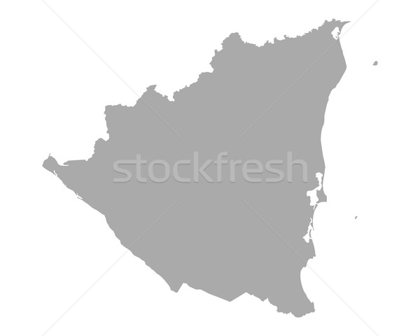 Mapa Nicarágua vetor isolado ilustração cinza Foto stock © rbiedermann