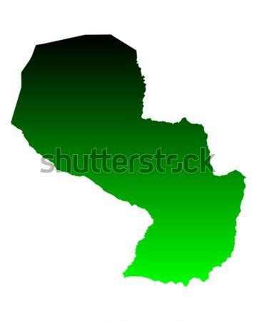 Térkép Paraguay zöld utazás vektor Stock fotó © rbiedermann