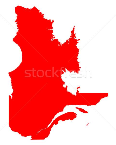 Kaart Quebec Rood vector Canada geïsoleerd Stockfoto © rbiedermann