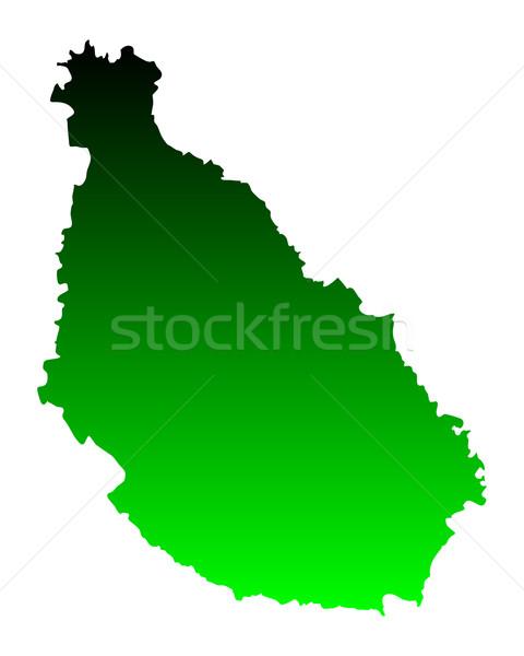 Kaart Santiago groene vector geïsoleerd illustratie Stockfoto © rbiedermann