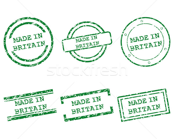 Made in Britain stamps Stock photo © rbiedermann