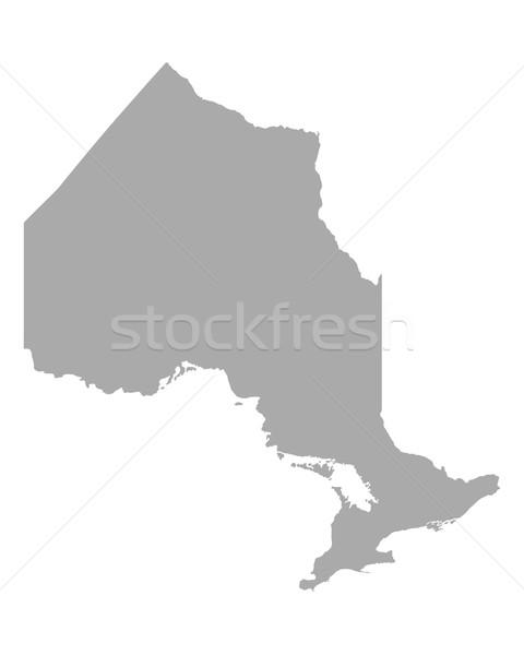 Térkép Ontario utazás Kanada izolált illusztráció Stock fotó © rbiedermann