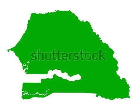 Térkép Szenegál zöld utazás vektor Stock fotó © rbiedermann