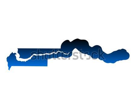 地図 ガンビア 背景 青 旅行 ストックフォト © rbiedermann