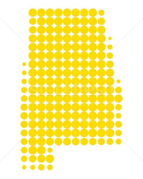 Harita Alabama model sarı daire nokta Stok fotoğraf © rbiedermann