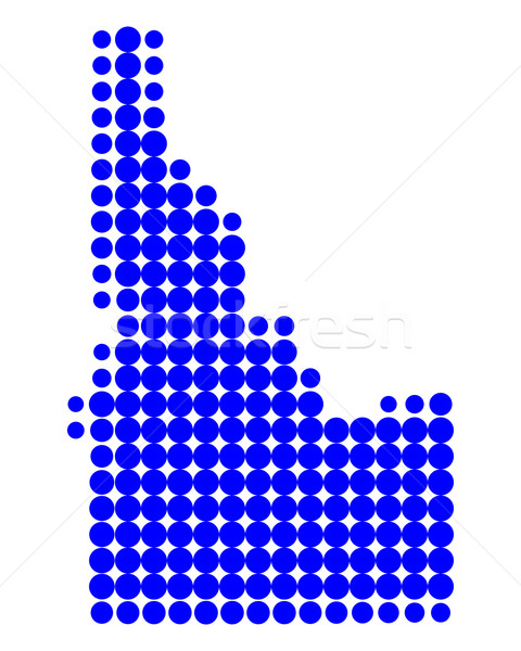 Kaart Idaho Blauw patroon amerika cirkel Stockfoto © rbiedermann