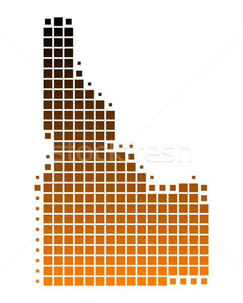 Kaart Idaho patroon amerika vierkante illustratie Stockfoto © rbiedermann