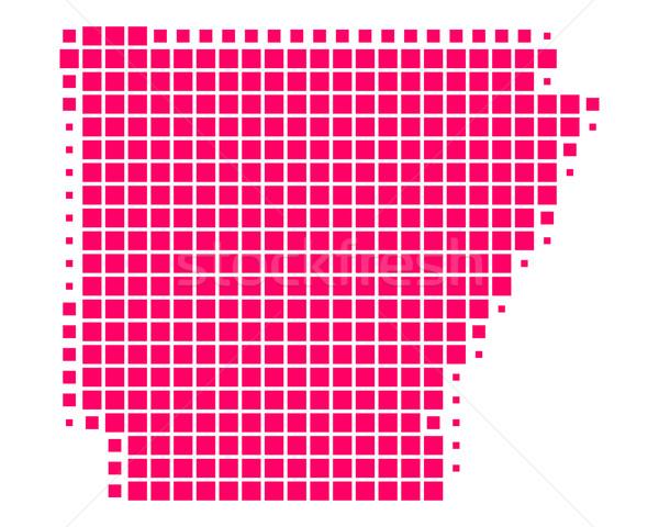 Kaart Arkansas patroon amerika paars vierkante Stockfoto © rbiedermann