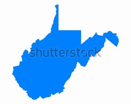 Térkép Nyugat-Virginia kék utazás Amerika USA Stock fotó © rbiedermann