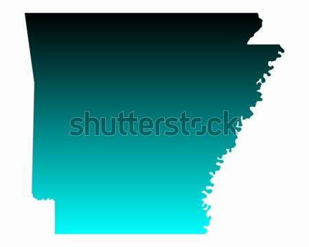 Kaart Arkansas Blauw reizen amerika USA Stockfoto © rbiedermann