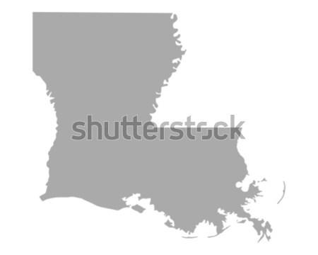 Stok fotoğraf: Harita · Louisiana · kâğıt · arka · plan · seyahat · kart