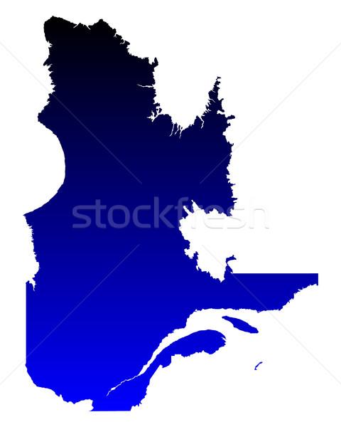 Kaart Quebec Blauw vector Canada geïsoleerd Stockfoto © rbiedermann