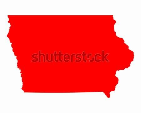 Térkép Iowa utazás piros Amerika USA Stock fotó © rbiedermann
