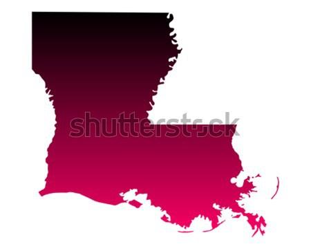 Mappa Louisiana viaggio america viola isolato Foto d'archivio © rbiedermann
