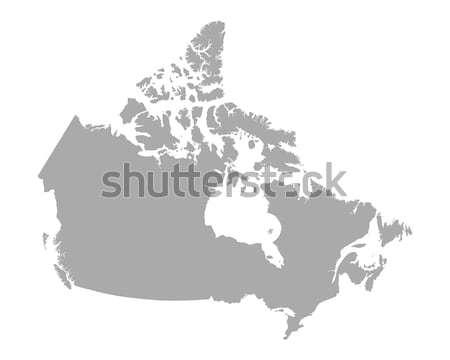 Mapa Canadá fundo linha vetor Foto stock © rbiedermann
