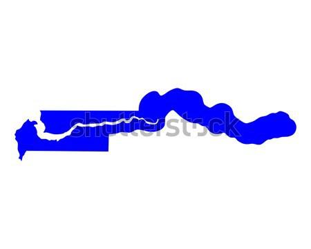 地図 ガンビア 背景 青 行 ストックフォト © rbiedermann