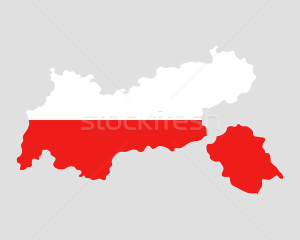 Map and flag of Tyrol Stock photo © rbiedermann