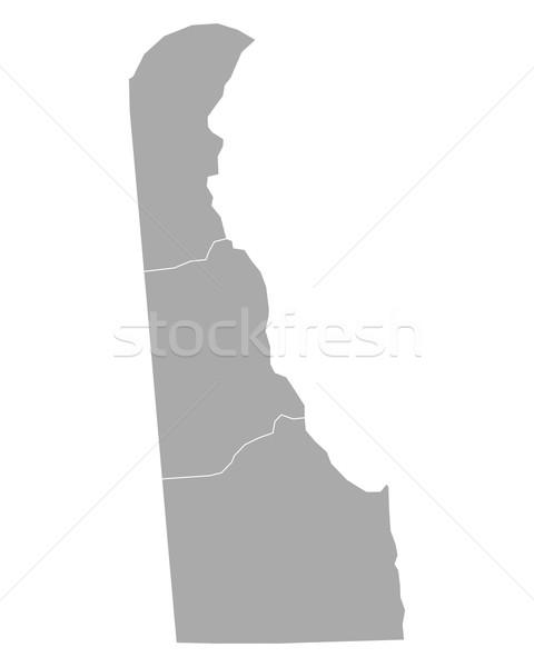 Mapa Delaware fondo línea vector ilustración Foto stock © rbiedermann