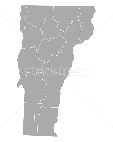 Mapa Vermont fundo linha vetor ilustração Foto stock © rbiedermann