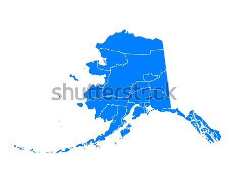 Mapa Alasca fundo azul linha vetor Foto stock © rbiedermann