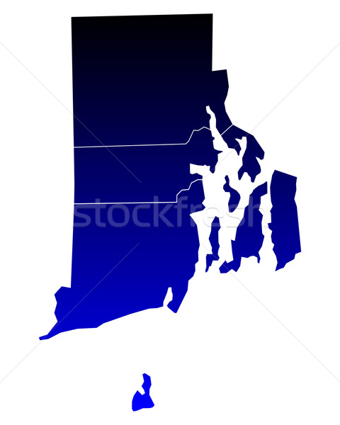 Harita Rhode Island mavi seyahat ada ABD Stok fotoğraf © rbiedermann