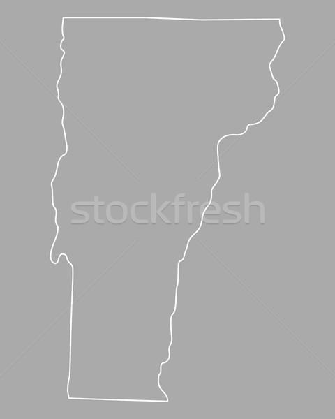 Térkép Vermont USA vektor izolált illusztráció Stock fotó © rbiedermann
