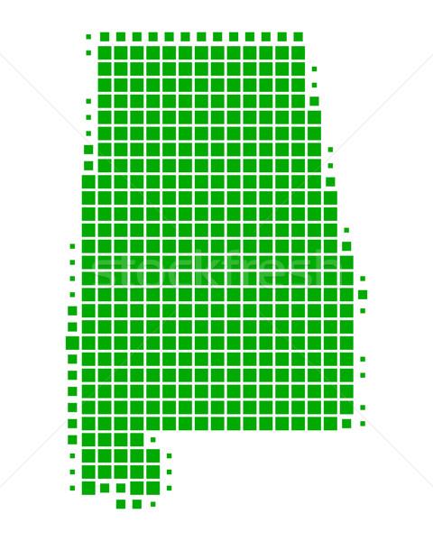 Stok fotoğraf: Harita · Alabama · yeşil · model · Amerika · kare