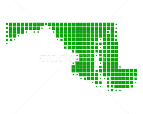 Térkép Maryland zöld minta Amerika USA Stock fotó © rbiedermann