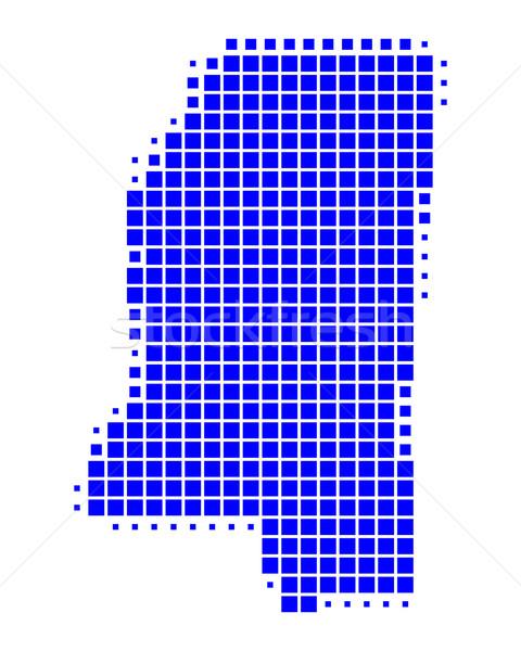 地図 ミシシッピー州 青 パターン アメリカ 広場 ストックフォト © rbiedermann