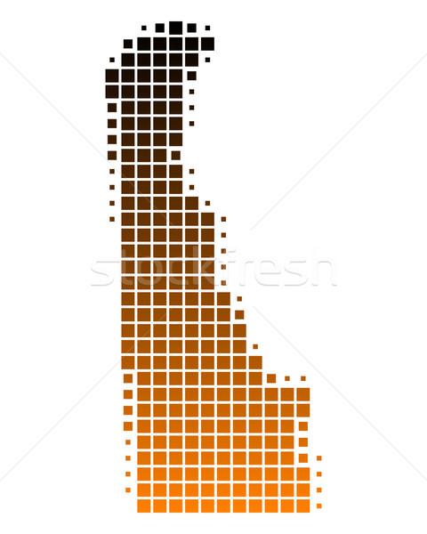 Stockfoto: Kaart · Delaware · patroon · amerika · USA · vierkante