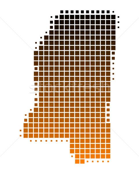 Harita Mississipi model Amerika kare örnek Stok fotoğraf © rbiedermann
