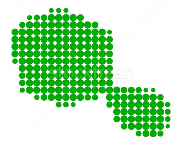 Harita tahiti yeşil model daire nokta Stok fotoğraf © rbiedermann