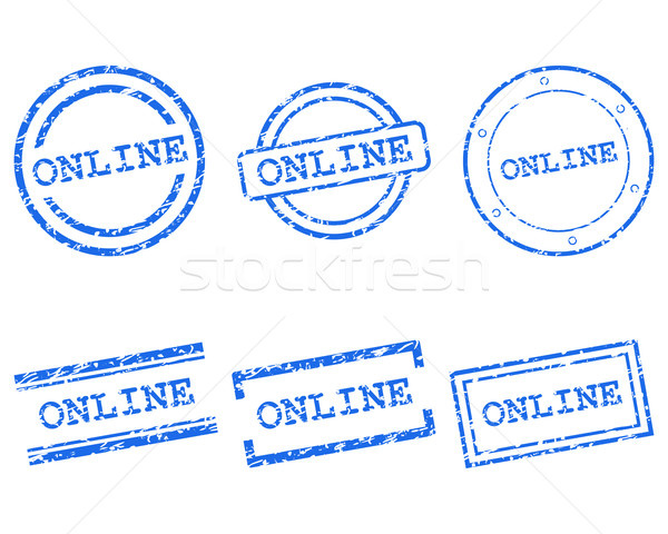 Online stamps Stock photo © rbiedermann