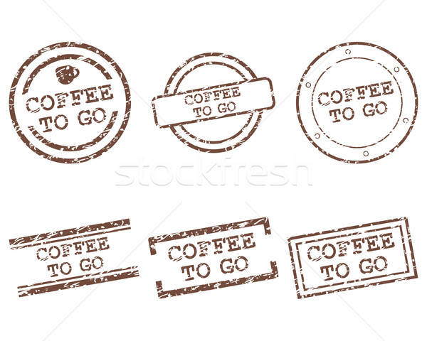 Coffee to go stamps Stock photo © rbiedermann