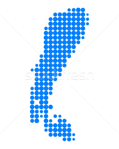 Map of Lake Neusiedl Stock photo © rbiedermann