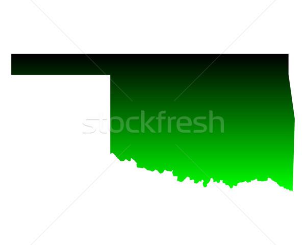 Kaart Oklahoma groene reizen amerika USA Stockfoto © rbiedermann
